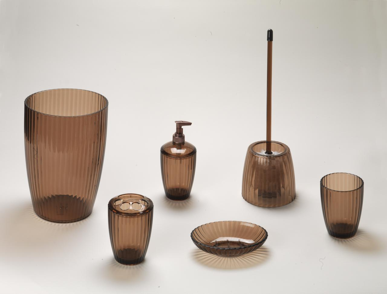 Carnation home fashions inc acrylic bath accessories for Brown bath accessories
