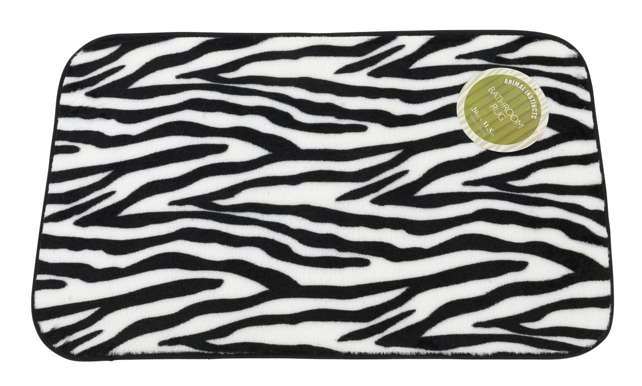 Zebra Bathroom Rug Carnation Home Fashions Inc Animal Instincts Collection Of