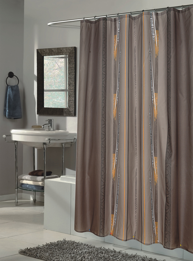 Catherine Extra Long Fabric Shower Curtain Size 70 Wide X 84