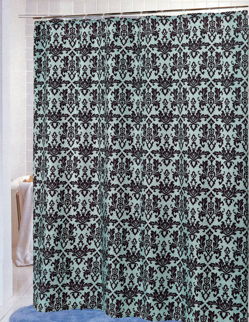 Carnation Home Fashions, Inc - DAMASK Fabric Shower Curtains