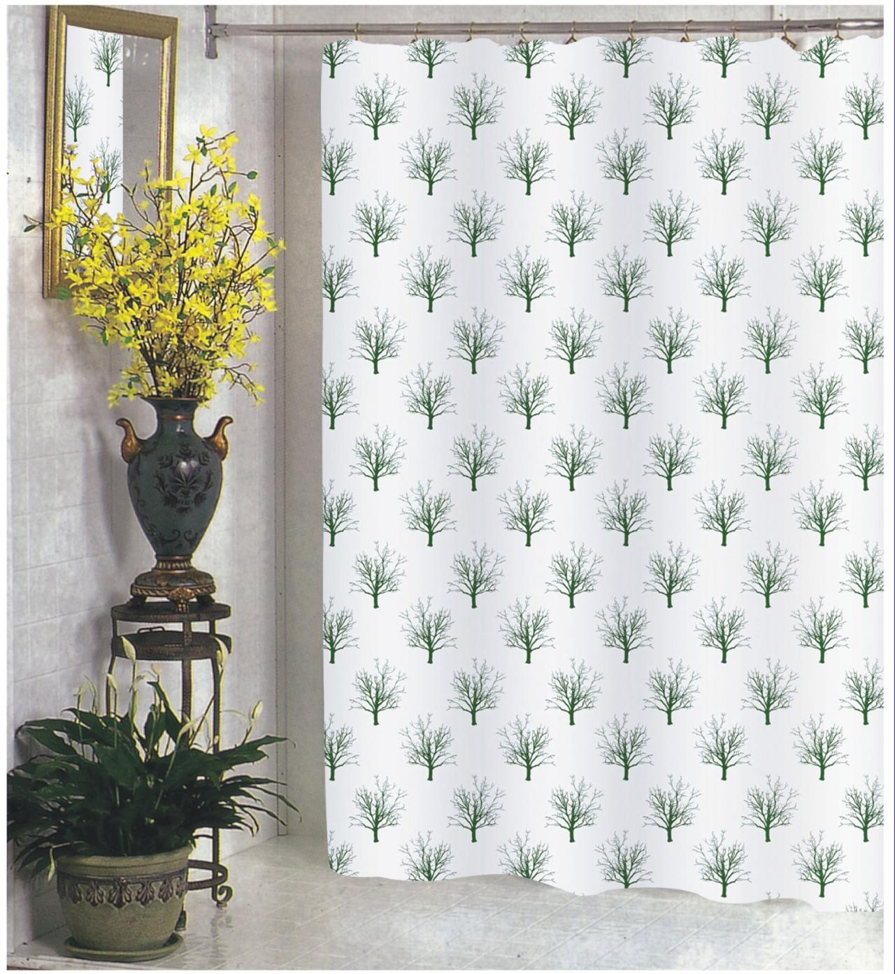 Faith Extra Wide Fabric Shower Curtain 108 X 72 Long