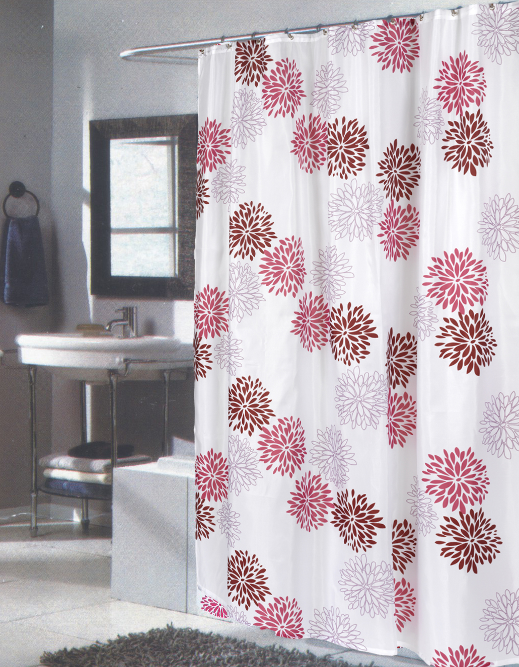 carnation home fashions inc extra long fabric shower