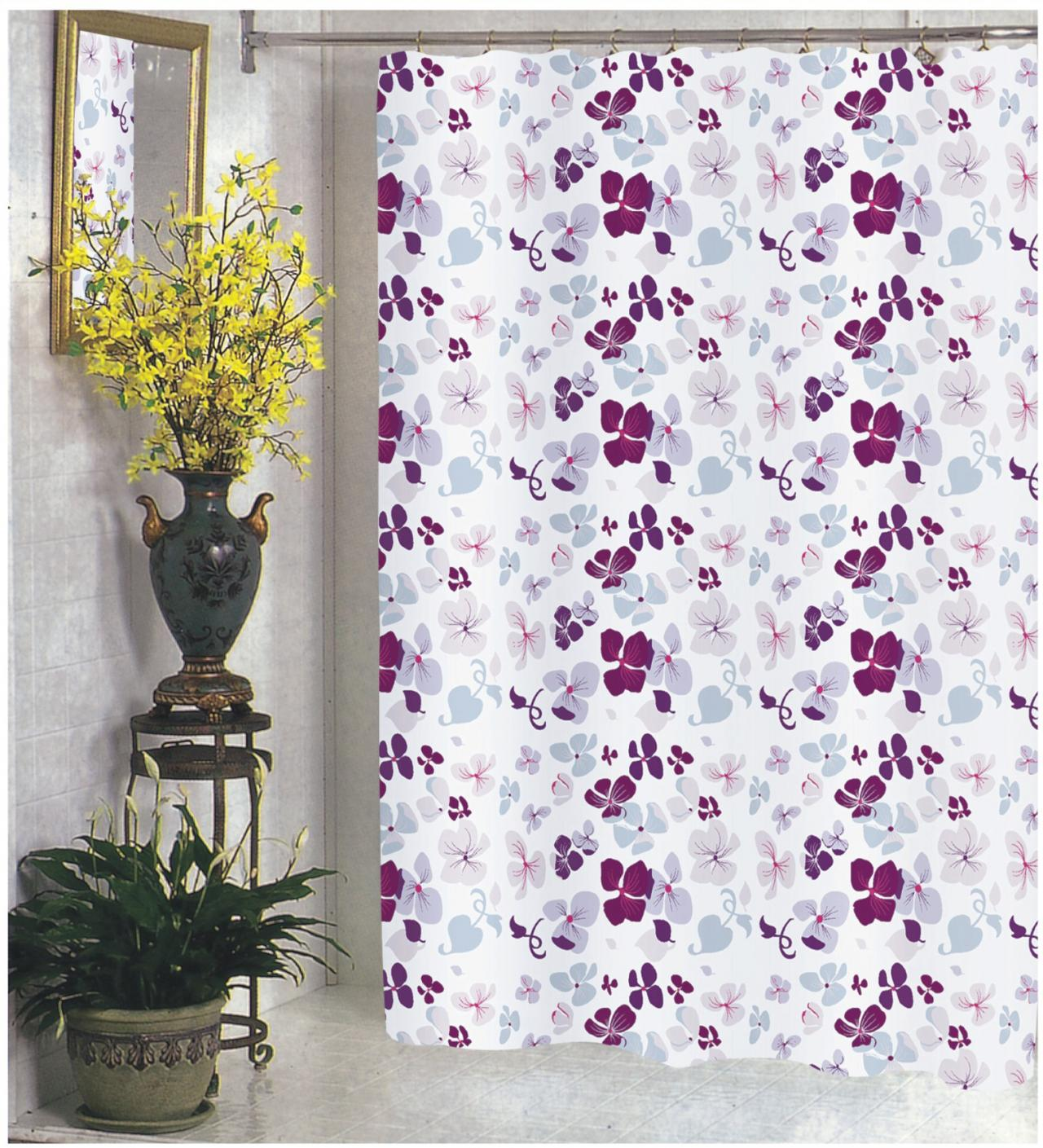 Joanne Extra Wide Fabric Shower Curtain 108 X 72 Long
