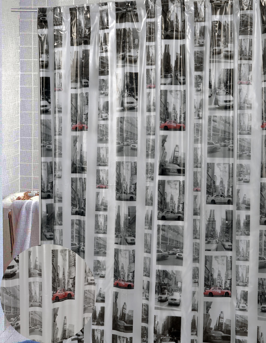 Carnation Home Fashions, Inc - Vinyl Print Shower Curtains