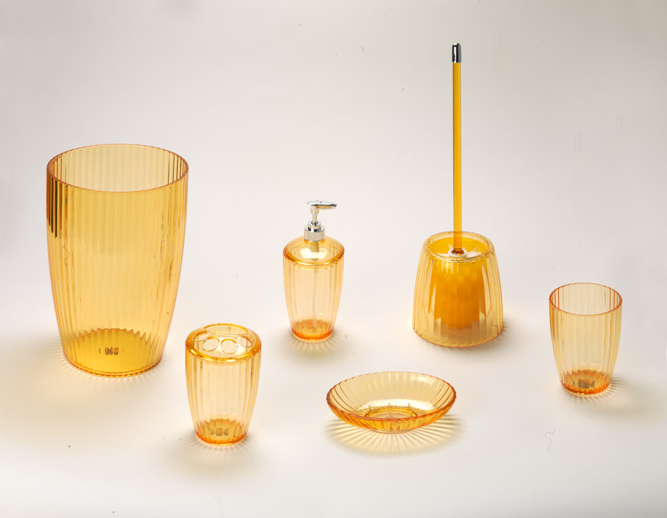 ... Ribbed Acrylic Accessories, Orange ...