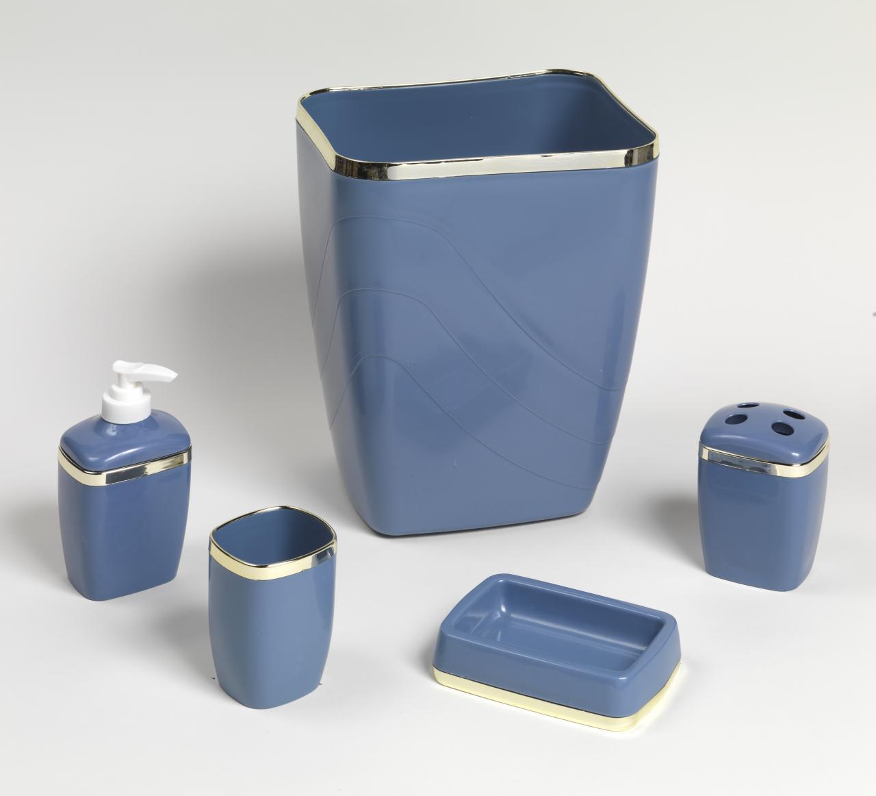 Carnation Home Fashions, Inc - 5 Piece Plastic Bath Accessory Sets
