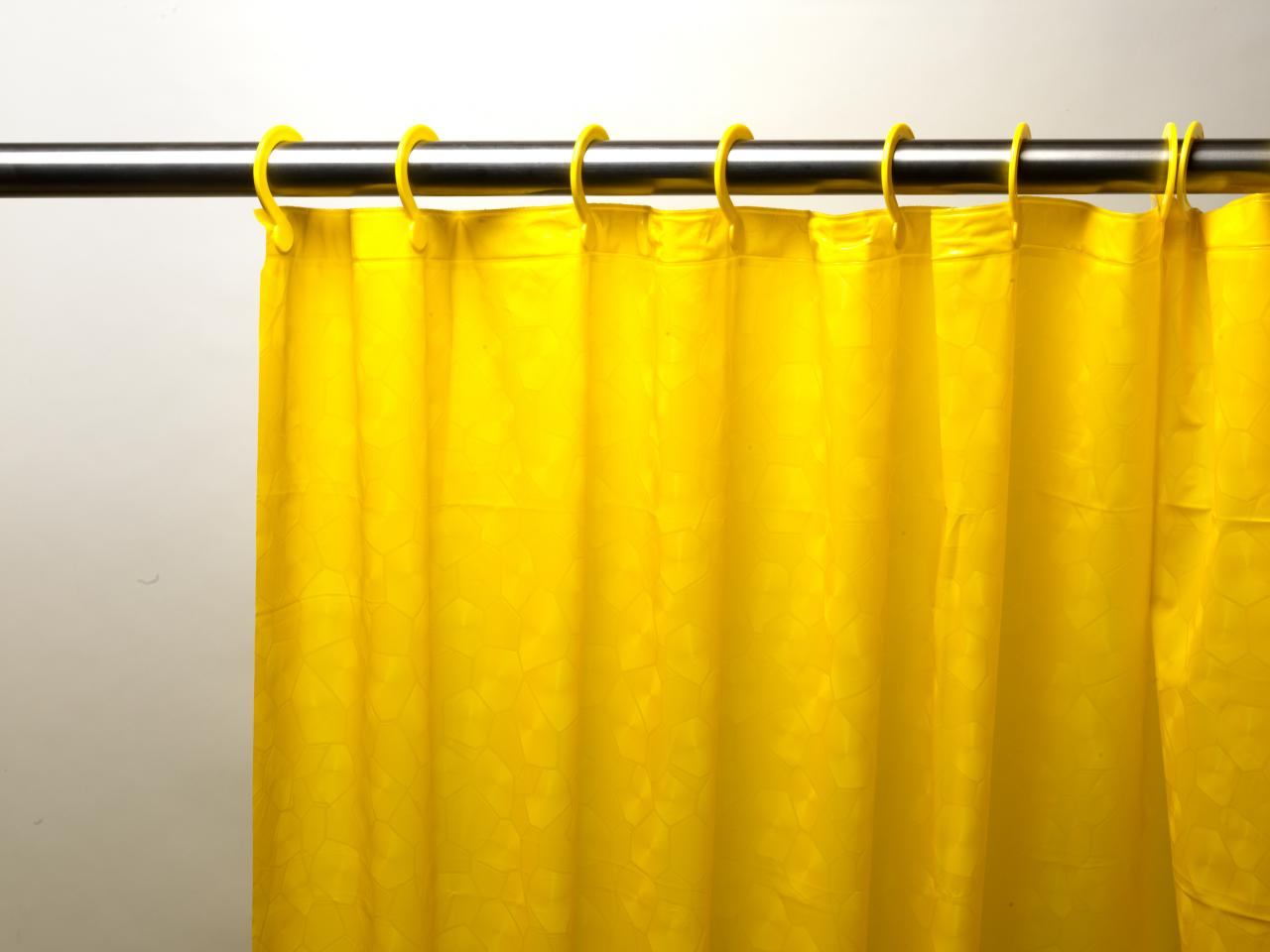 Embossed PEVA Shower Curtain With Built In Hooks