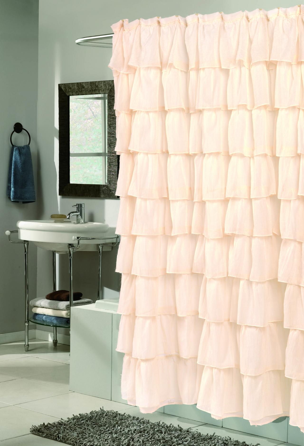 Cool Coral Colored Shower Curtain Ideas