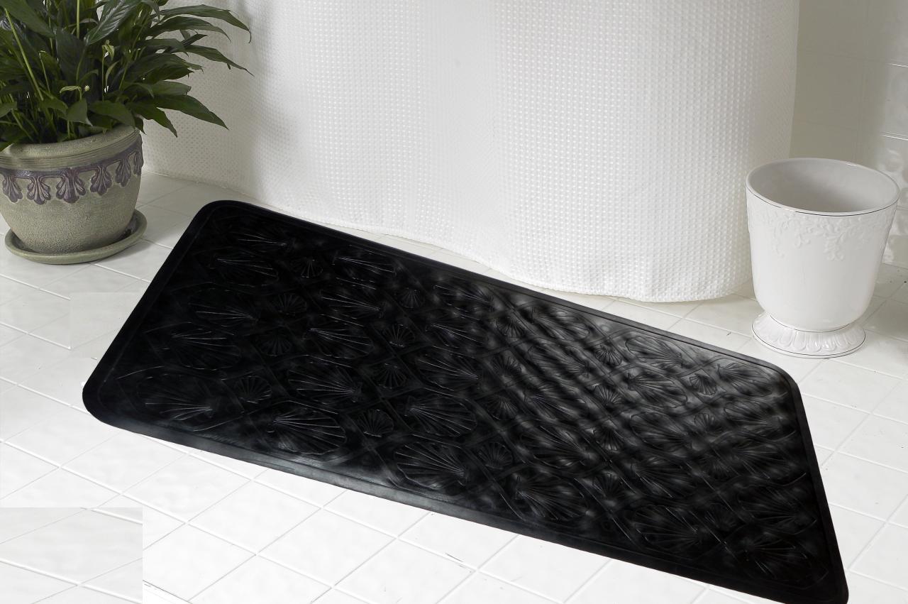 ... Rubber Bath Tub Mat, Black ...