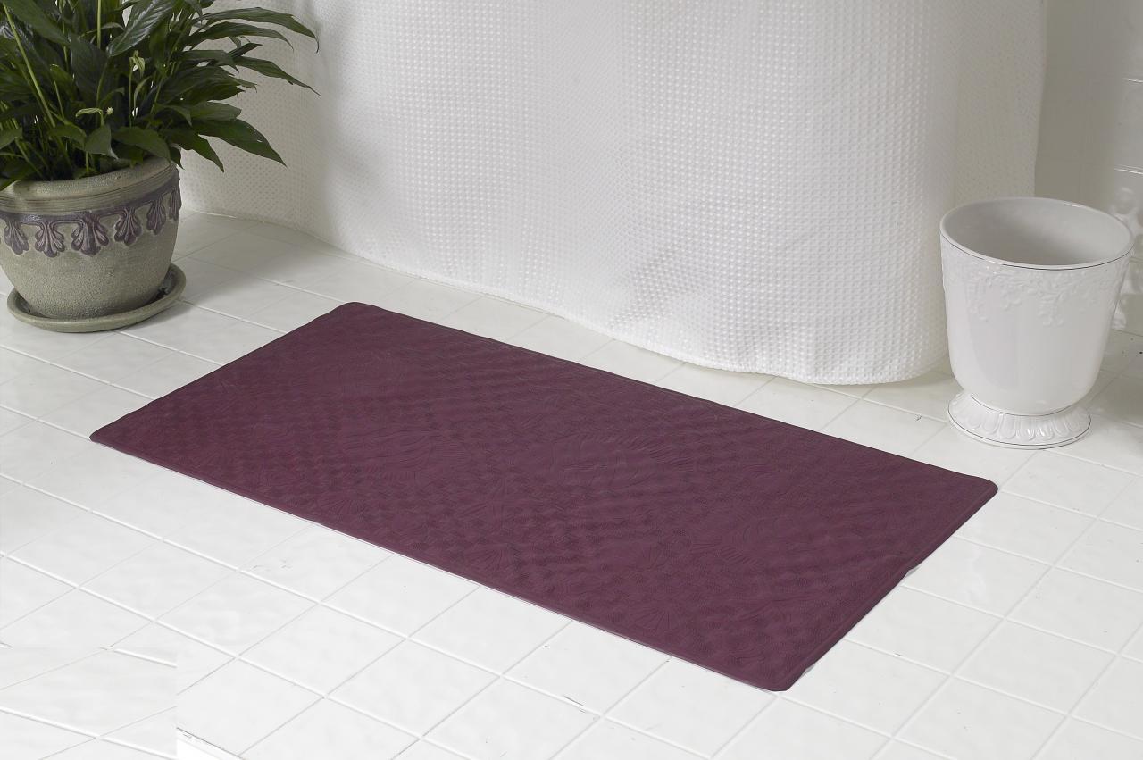 Carnation Home Fashions Inc Bath Tub Mats - Burgundy bath mat for bathroom decorating ideas