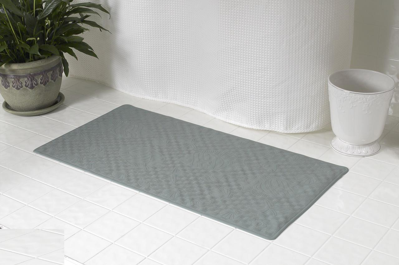 ... Rubber Bath Tub Mat, Sage ...