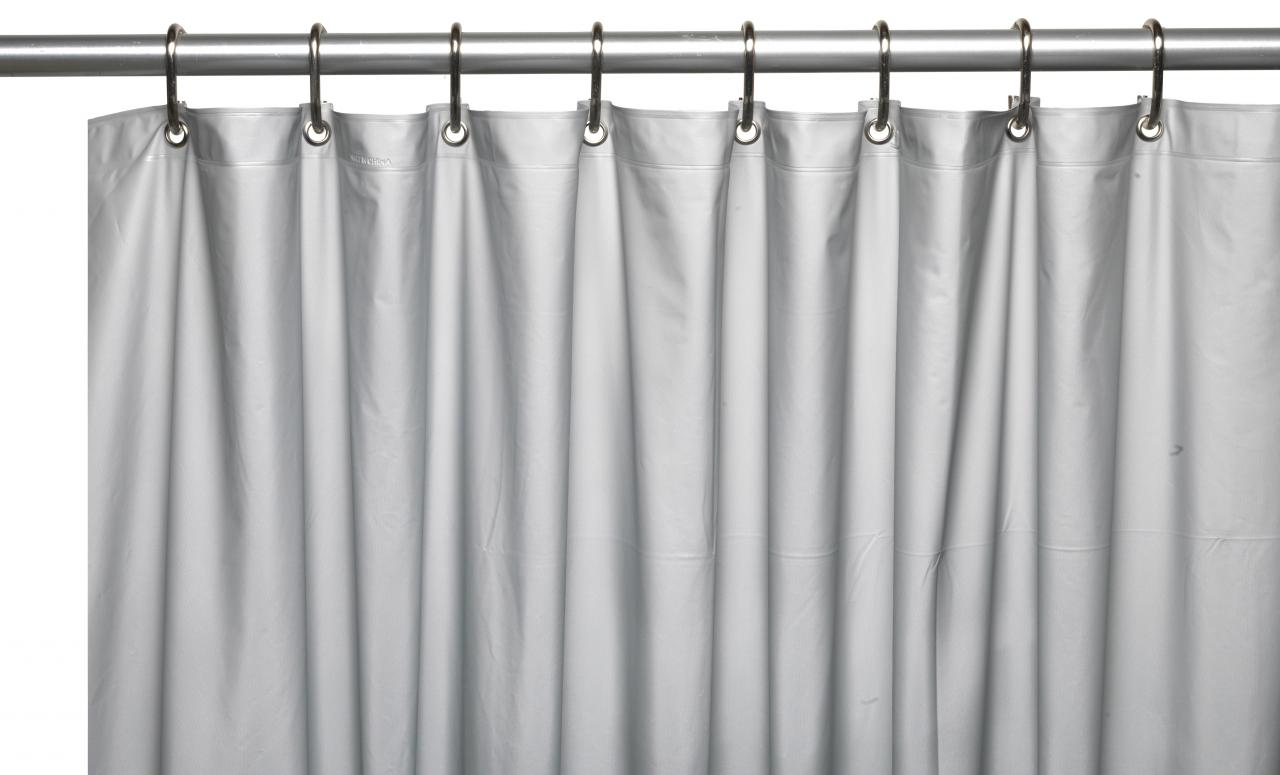 hotel collection 8 gauge vinyl shower curtain liner w weighted magnets and met