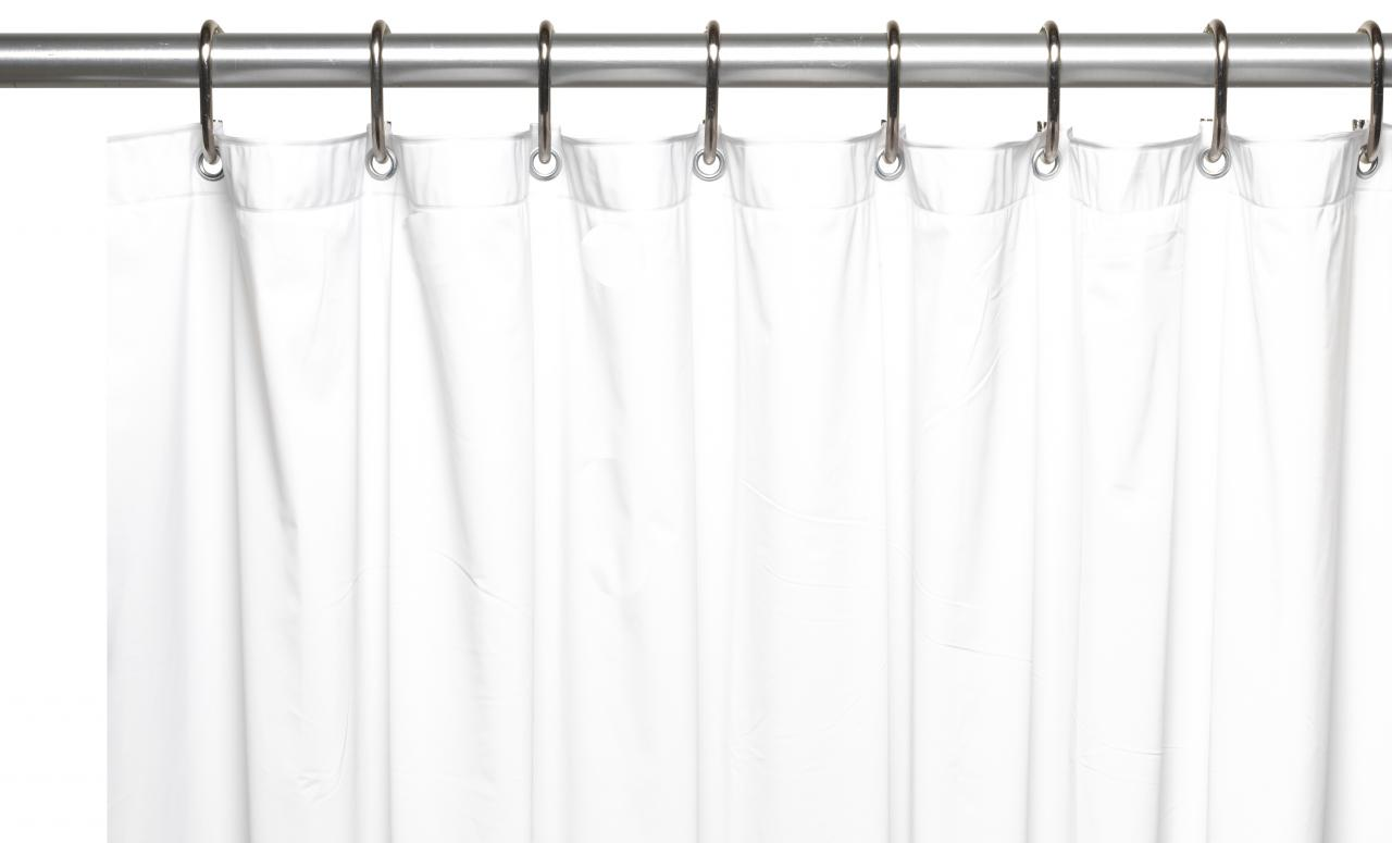 hotel collection 8 gauge vinyl shower curtain liner w metal grommets in white