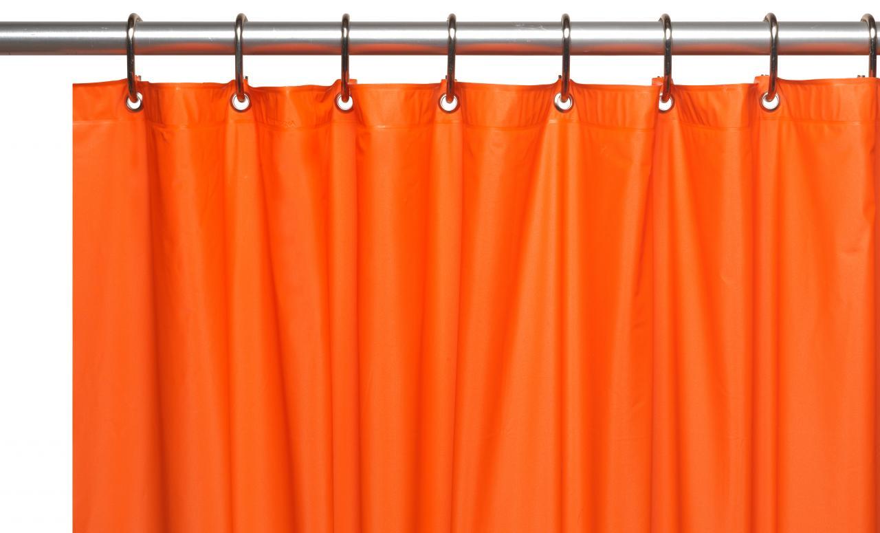 Carnation home fashions inc 8 gauge vinyl shower for Bathroom liner