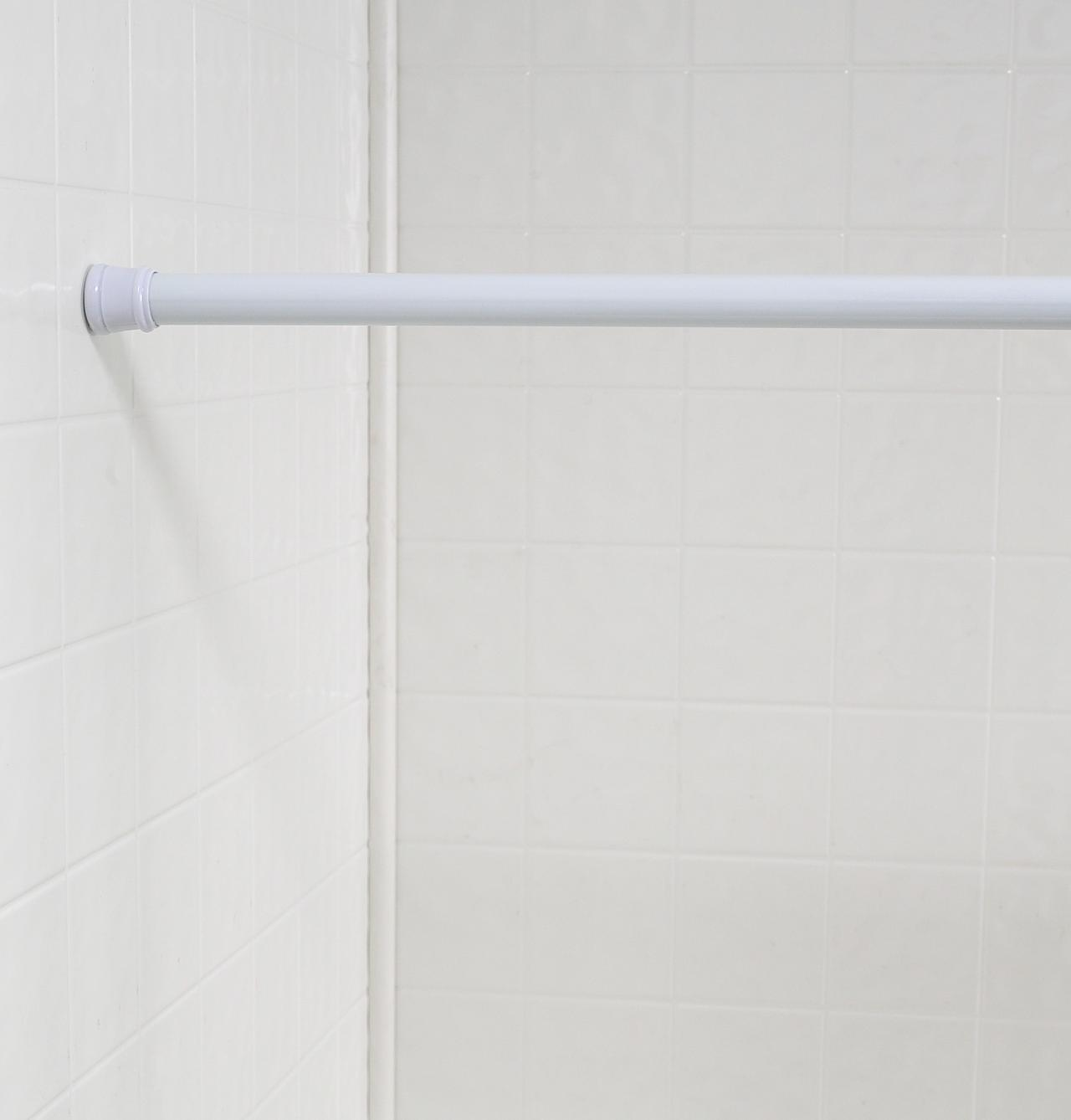 Tension shower curtain rods -  Shower Curtain Tension Rod Standard Size White